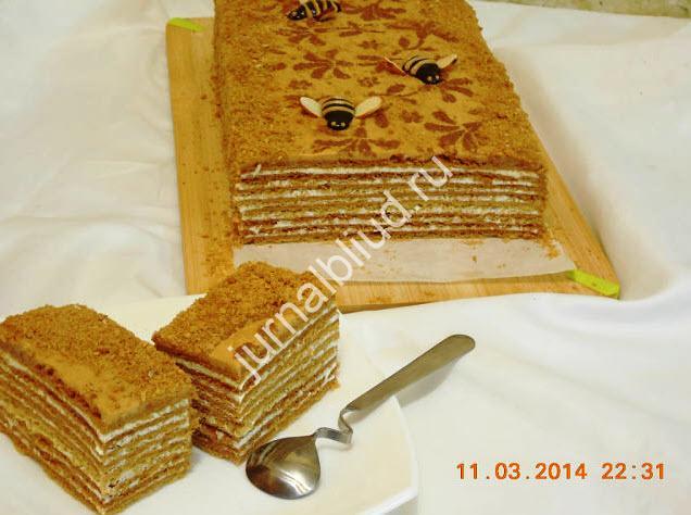 Медовый торт рецепт фото