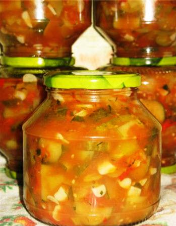 Грузинский салат на зиму