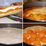 Творожный пирог с абрикосами