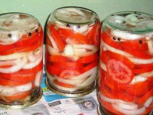 Отличная закуска из помидоров с луком к шашлыку