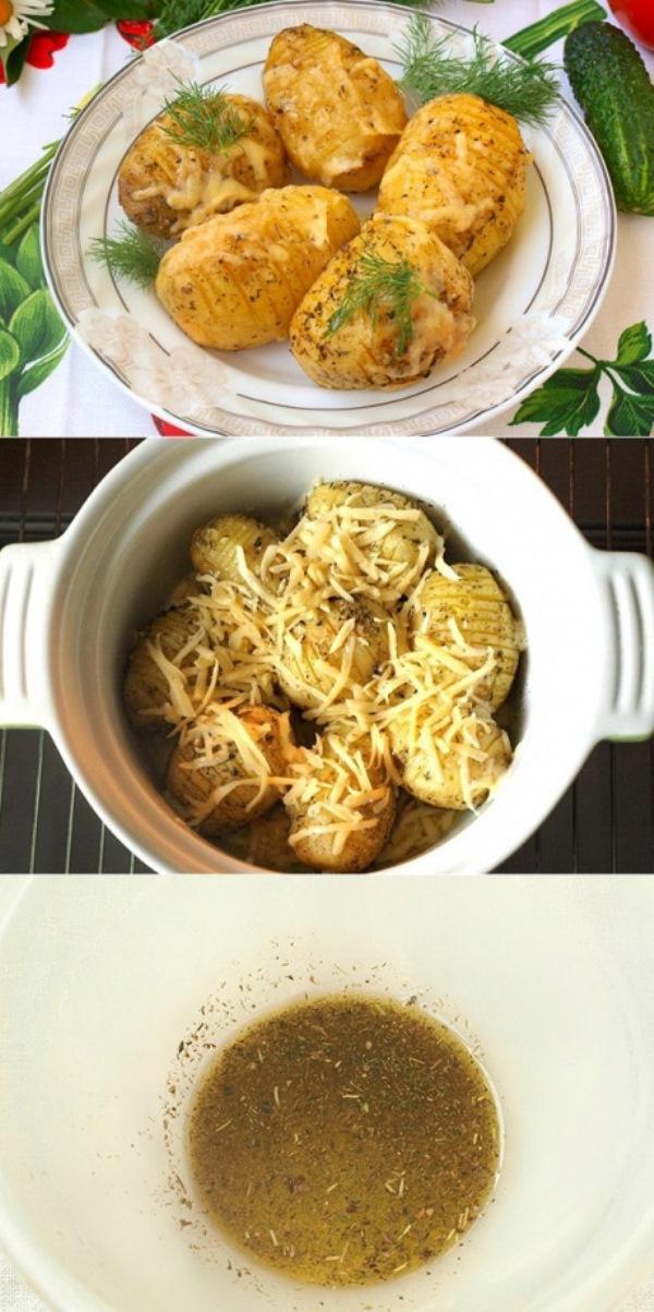 Очень вкусный запечённый картофель в духовке с ароматными травами.