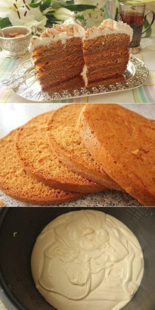 Этот торт получится даже у тех, у кого никогда и ничего не получается. Медовик в мультиварке
