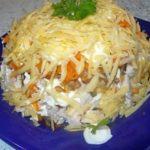 Лучший рецепт салата! Нежный и сытный. Переплюнет все за столом! Слоеный салат «Курочка под шубой» с грибами