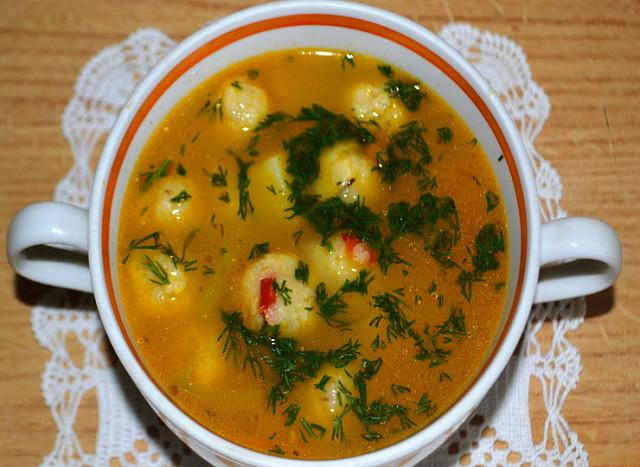Суп с Сырными шариками  — ПАЛЬЧИКИ ОБЛИЖЕШЬ!
