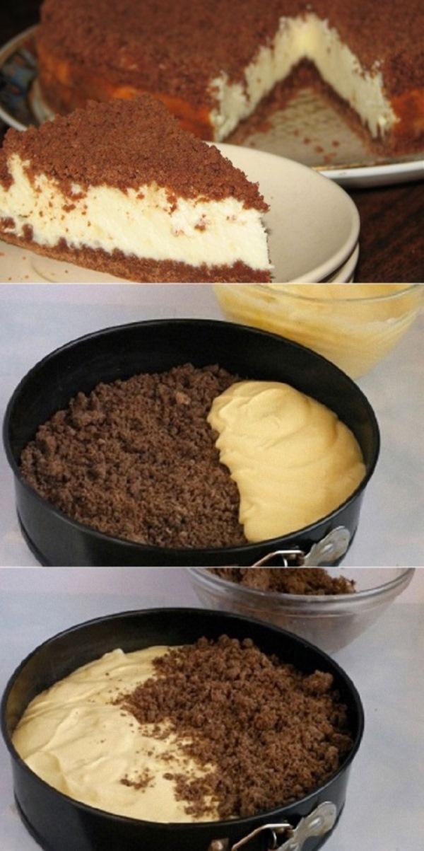 Творожный «торфяной» пирог. Детей не заставить есть творог, но зато пирог уплетают с удовольствием. ЯЗЫК МОЖНО ПРОГЛОТИТЬ!