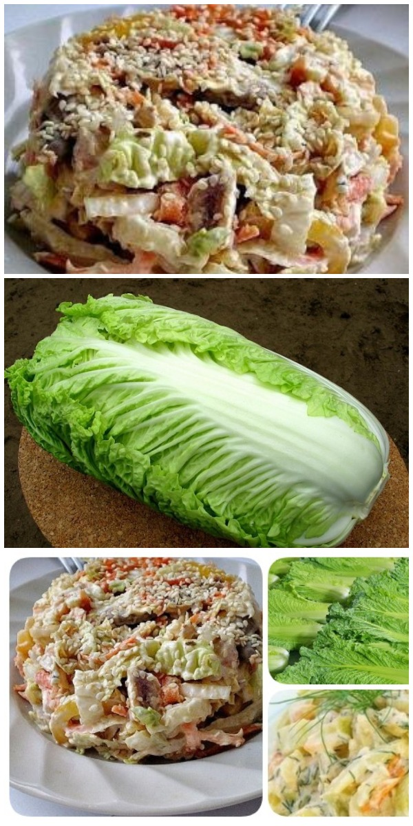 Салат с пекинской капустой «Переполох». Не рецепт, а сказка!