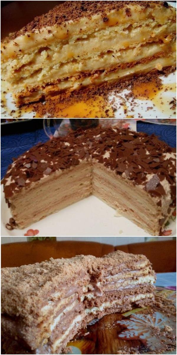 ТОРТ «КРЕМ БРЮЛЕ». Мой муж называет его «Фирменный тортик»