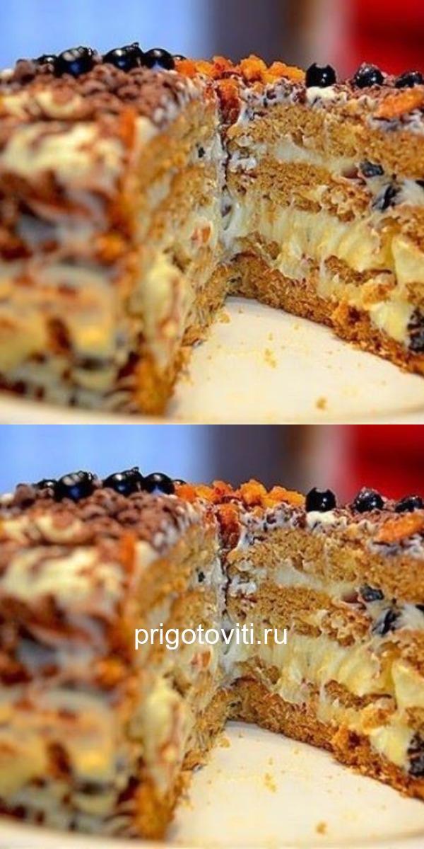 Эффектный торт Трухлявый пень на любом застолье произведет фурор.