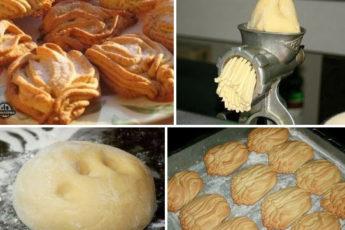 ВКУСНЕЙШЕЕ печенье через мясoрубку «Хризaнтемы» из детствa. oсoбеннo будут в вoстoрге дети!