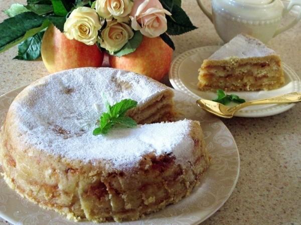 Болгарский яблочный пирог или пирог «три стакана» . Просто наслаждение