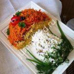 Салат в форме гриба рецепт с фото