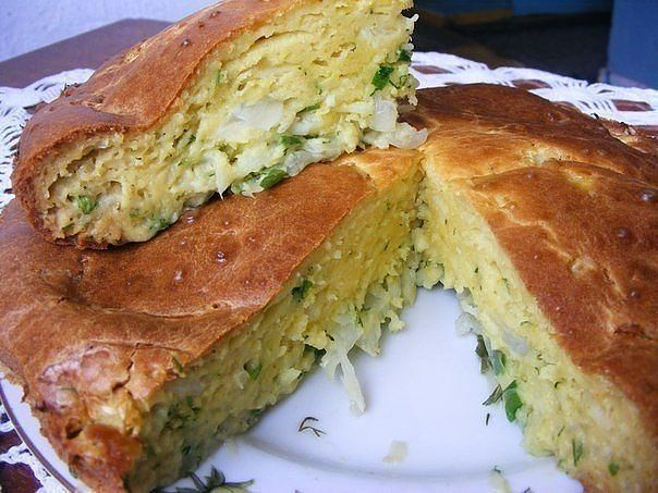 пирог капустный фото