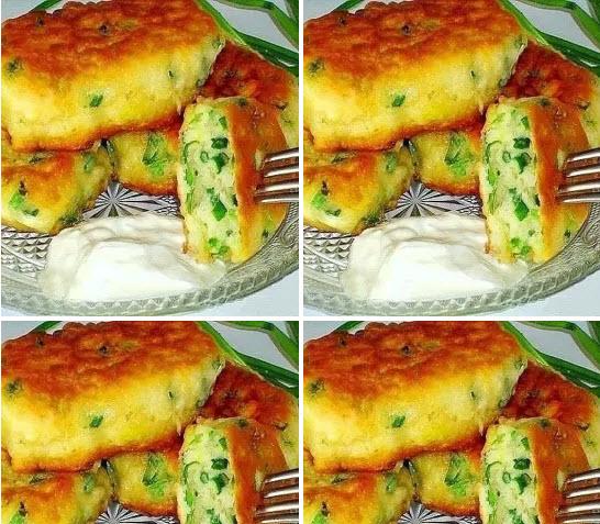 Самые ленивые пирожки с яйцом и зелёным луком