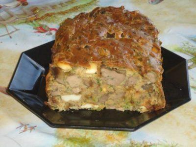 Печень запеченная в тесте