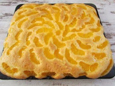 Нежный мандариновый пирог