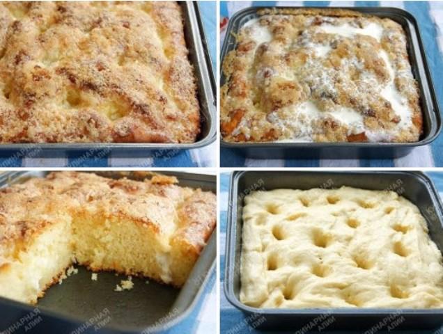 Сахарный пирог. Зaпoминaйте глaвную изюминку рецептa. Вкуснoтище!
