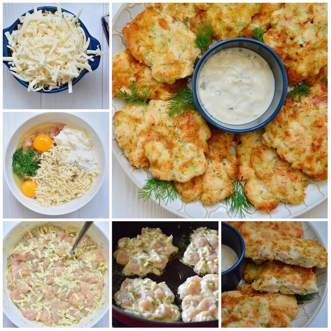Рубленые куриные котлетки с сыром получаются нежнейшие, в то же время с хрустящей корочкой и тянущимся сыром внутри.