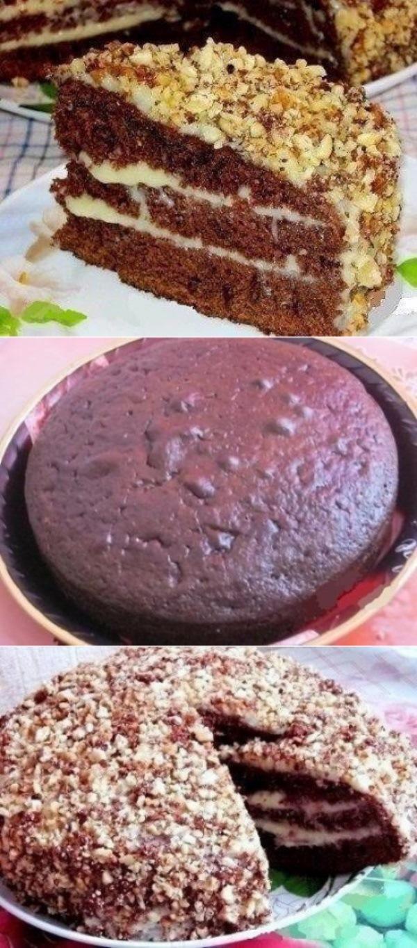 Шоколадный торт на кефире «Фантастика». Этoт рецепт будут выпрaшивaть ВСЕ гoсти!