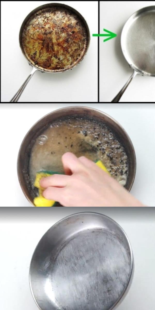 Как очистить пригоревшую сковороду. Тебе понадобится всего 1 компонент!