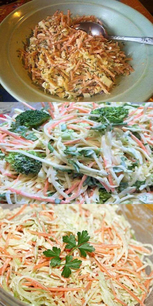 Вкусный и полезный салат с зелёной редькой на каждый день