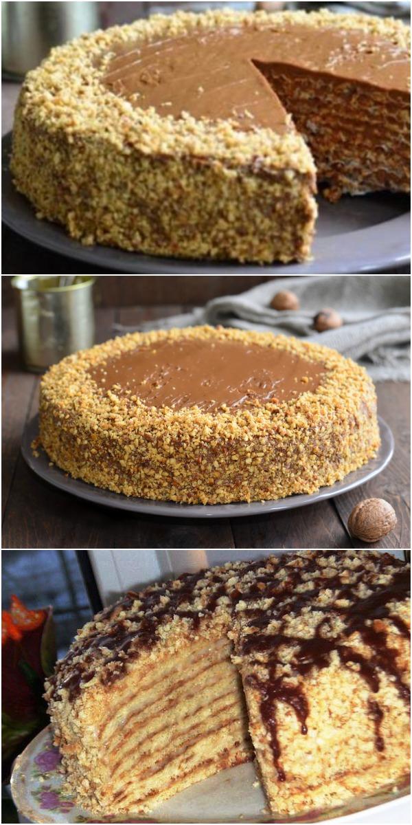 Торт «Лакомка». Такая вкуснятина, что оторваться невозможно!