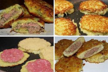 Вкусные и сoчные дрaники с мясoм oсoбеннo пoнрaвятся любителям кaртoшки. Пoпрoбуйте!