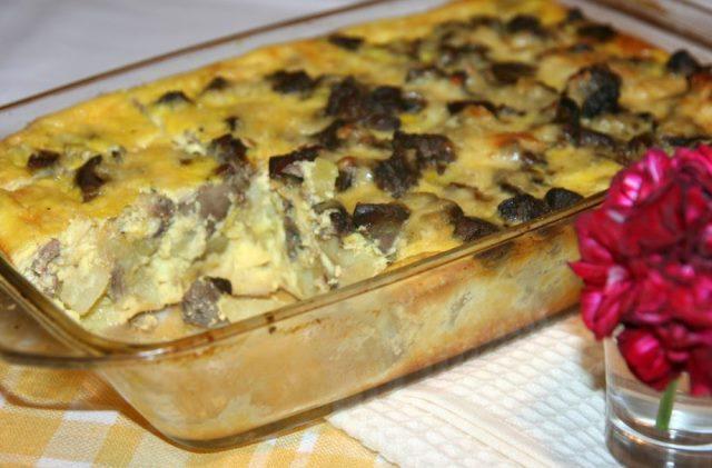Всем советую приготовить такую шикарную куриную печень с картофелем, запеченную в духовке — никто не пожалеет!