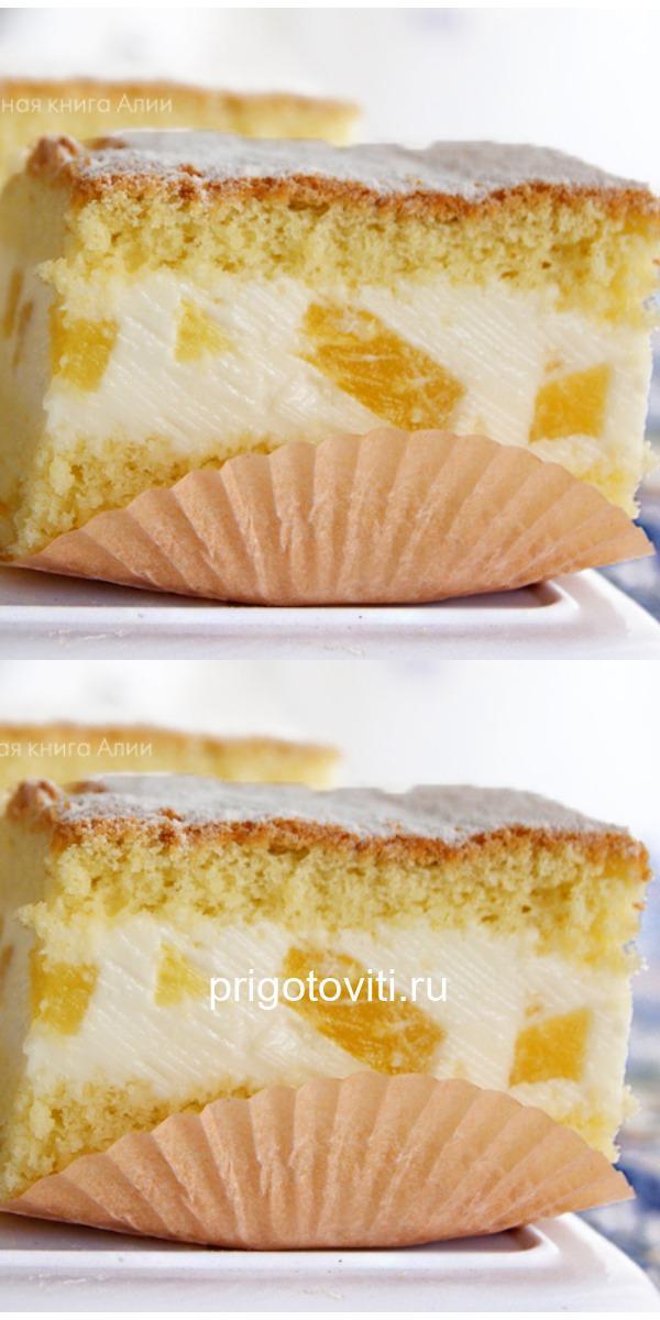 Торт с нежнейшим творожным кремом