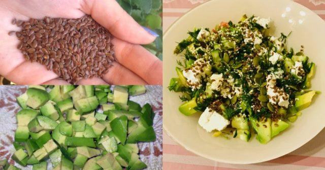 Очень легкий и необыкновенно вкусный салат с авокадо без майонеза.